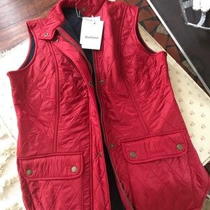 Barbour Wray vest. NWT. Red. Size US8